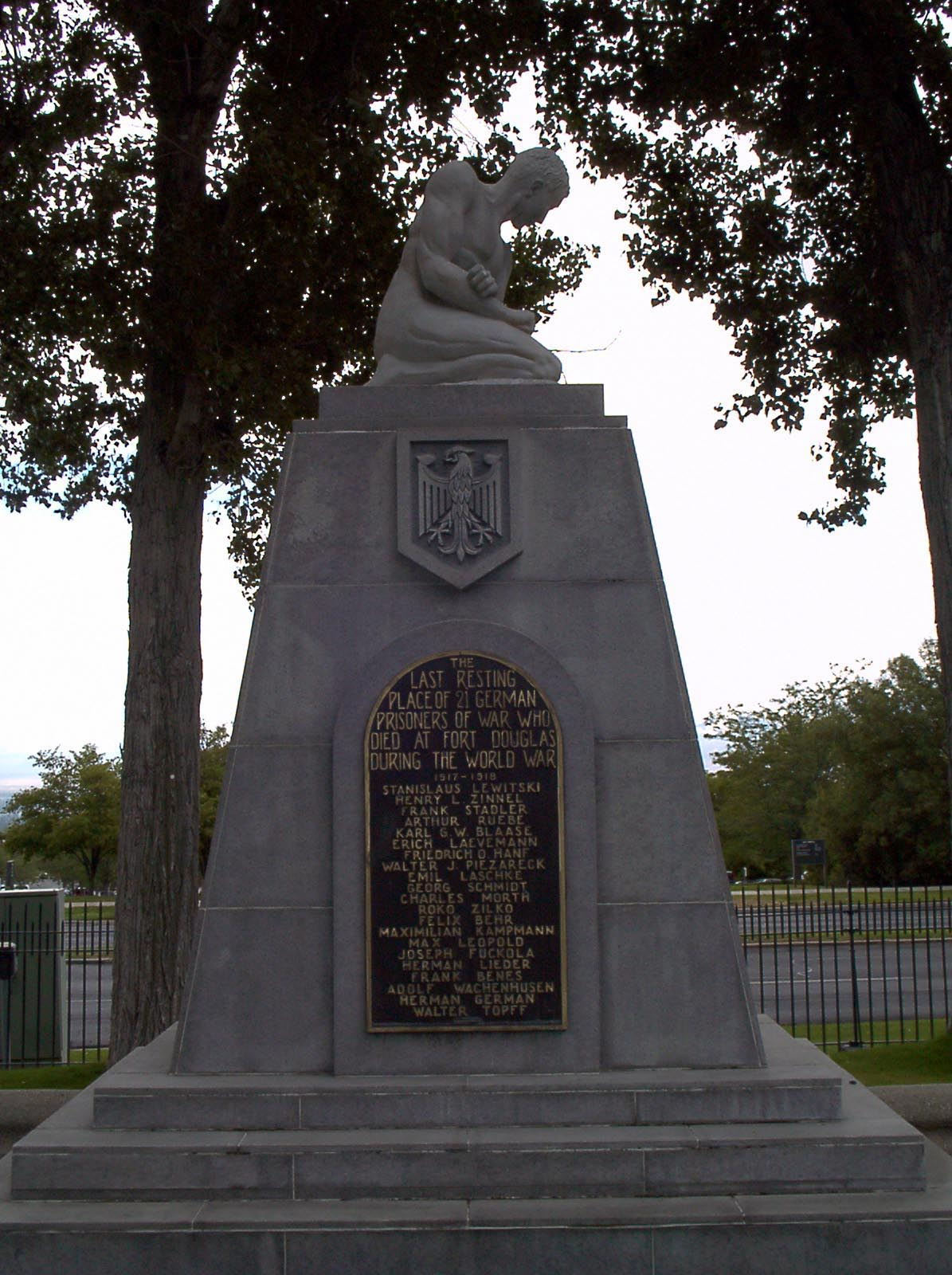 World War I German Prisoners of War Monument in Ft. Douglas Cemetery (UT)